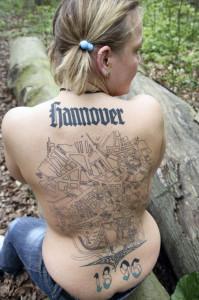 Hannover auf dem Rücken