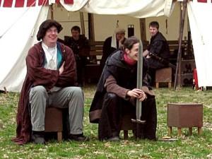 Der Gelehrte Gero von Wallenstein (l.) und Ranarion der Barde.